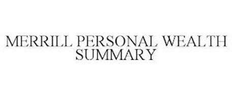 MERRILL PERSONAL WEALTH SUMMARY