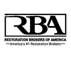 RBA RESTORATION BROKERS OF AMERICA AMERICA'S #1 RESTORATION BROKERS