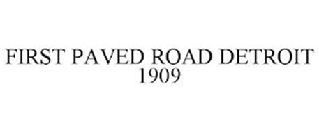 FIRST PAVED ROAD DETROIT 1909
