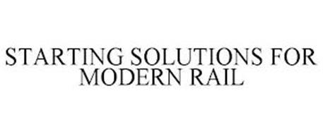 STARTING SOLUTIONS FOR MODERN RAIL