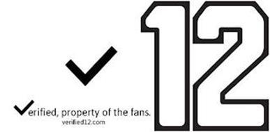 V12 VERIFIED PROPERTY OF THE FANS. VERIFIED12.COM