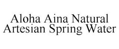 ALOHA AINA NATURAL ARTESIAN SPRING WATER