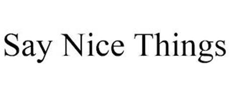SAY NICE THINGS