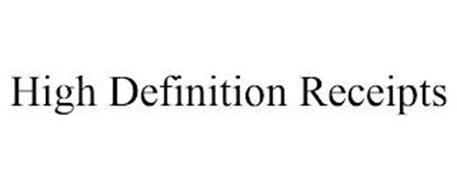 HIGH DEFINITION RECEIPTS
