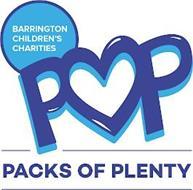 BARRINGTON CHILDREN'S CHARITIES POP PACKS OF PLENTY