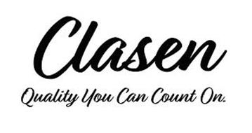 CLASEN QUALITY YOU CAN COUNT ON.
