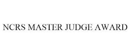 NCRS MASTER JUDGE AWARD