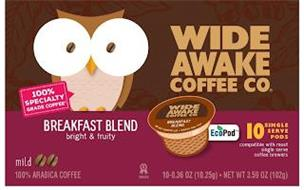 WIDE AWAKE COFFEE CO. BREAKFAST BLEND BRIGHT AND FRUITY