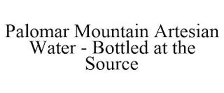 PALOMAR MOUNTAIN ARTESIAN WATER - BOTTLED AT THE SOURCE