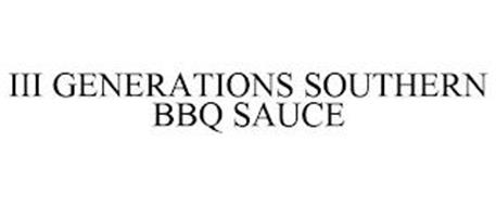 III GENERATIONS SOUTHERN BBQ SAUCE
