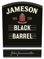 JAMESON ESTD 1780 SINE METU BLACK BARRELJOHN JAMESON AND SON