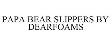 PAPA BEAR SLIPPERS BY DEARFOAMS