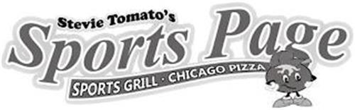 STEVIE TOMATO'S SPORTS PAGE SPORTS GRILL CHICAGO PIZZA