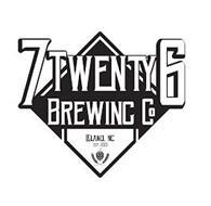 7TWENTY6 BREWING CO LELAND, NC EST. 2020