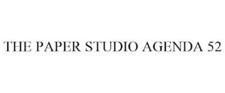 THE PAPER STUDIO AGENDA 52