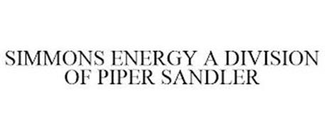 SIMMONS ENERGY A DIVISION OF PIPER SANDLER