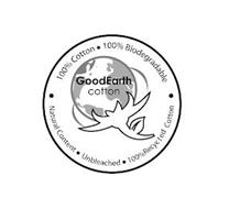 GOODEARTH COTTON · 100% COTTON · 100% BIODEGRADABLE · NATURAL CONTENT · UNBLEACHED · 100% RECYCLED COTTON