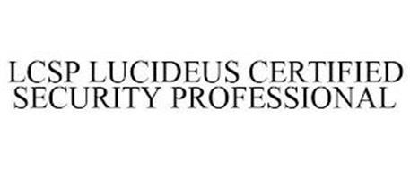 LCSP LUCIDEUS CERTIFIED SECURITY PROFESSIONAL