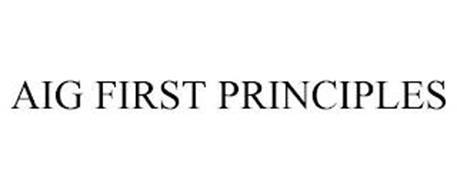 AIG FIRST PRINCIPLES