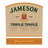 JAMESON ESTD 1780 SINE METU TRIPLE TRIPLE JOHN JAMESON & SON