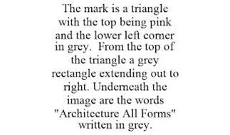 THE MARK IS A TRIANGLE WITH THE TOP BEING PINK AND THE LOWER LEFT CORNER IN GREY. FROM THE TOP OF THE TRIANGLE A GREY RECTANGLE EXTENDING OUT TO RIGHT. UNDERNEATH THE IMAGE ARE THE WORDS