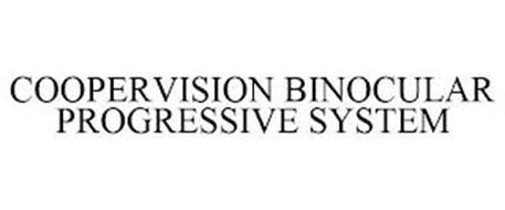 COOPERVISION BINOCULAR PROGRESSIVE SYSTEM
