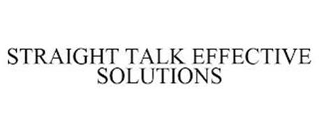 STRAIGHT TALK EFFECTIVE SOLUTIONS