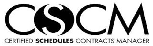 CSCM CERTIFIED SCHEDULES CONTRACTS MANAGER