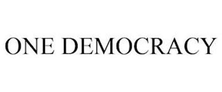 ONE DEMOCRACY