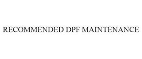 RECOMMENDED DPF MAINTENANCE
