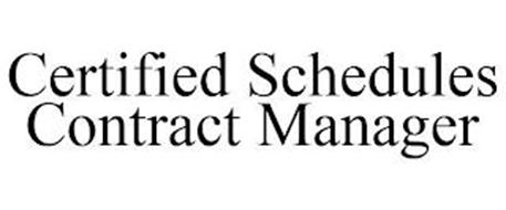 CERTIFIED SCHEDULES CONTRACTS MANAGER