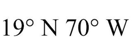 19° N 70° W