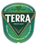 AUSTRALIAN GENUINE MALT SELECTED BY TERRA PREMIUM QUALITY TERRA FROM AGM 100% REAL CARBONATED BEER MADE FROM PURE AG MALT