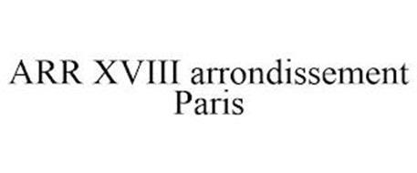ARR XVIII ARRONDISSEMENT PARIS