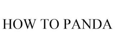 HOW TO PANDA