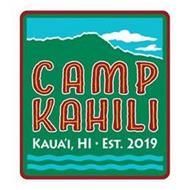 CAMP KAHILI KAUA'I, HI . EST. 2019