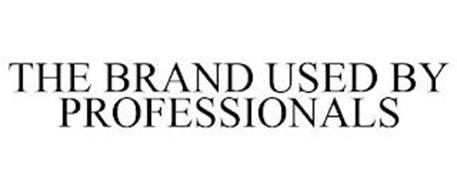 THE BRAND USED BY PROFESSIONALS