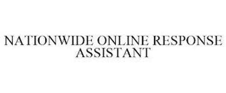 NATIONWIDE ONLINE RESPONSE ASSISTANT