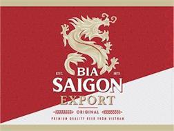 BIA SAIGON EXPORT EST. 1875 ORIGINAL PREMIUM QUALITY BEER FROM VIETNAM