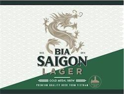 BIA SAIGON LAGER EST. 1875 GOLD MEDAL BREW PREMIUM QUALITY BEER FROM VIETNAM