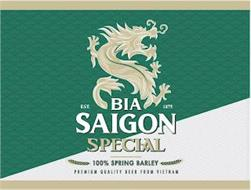 BIA SAIGON SPECIAL EST. 1875 100% SPRING BARLEY PREMIUM QUALITY BEER FROM VIETNAM