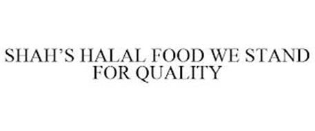 SHAH'S HALAL FOOD WE STAND FOR QUALITY