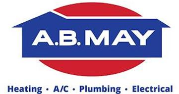 A.B. MAY HEATING · A/C · PLUMBING · ELECTRICAL