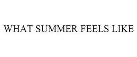 WHAT SUMMER FEELS LIKE