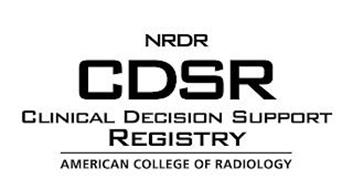 NRDR CDSR CLINICAL DECISION SUPPORT REGISTRY AMERICAN COLLEGE OF RADIOLOGY