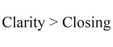 CLARITY > CLOSING