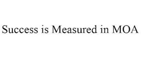 SUCCESS IS MEASURED IN MOA