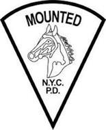 MOUNTED N.Y.C. P.D.