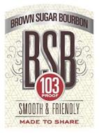 BROWN SUGAR BOURBON BSB 103 PROOF SMOOTH & FRIENDLY MADE TO SHARE