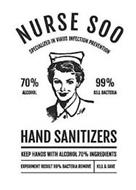 NURSE SOO SPECIALIZED IN VIRUS INFECTION PROTECTION 70% ALCOHOL 99% KILL BACTERIA HAND SANITIZERS KEEP HANDS WITH ALCOHOL 70% INGREDIENTS EXPERIMENT RESULT 99% BACTERIA REMOVE KILL & SAVE